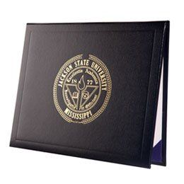 black leather diploma folder