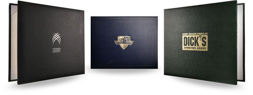 leather diploma folders