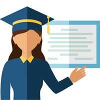 clip art graduation with diploma