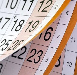 flipping calendar