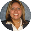 image of woman in a suit smiling, graduationsource customer