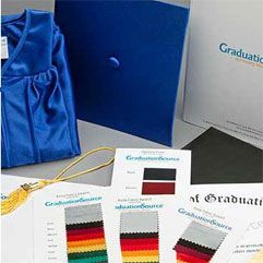 cap and gown color swatches